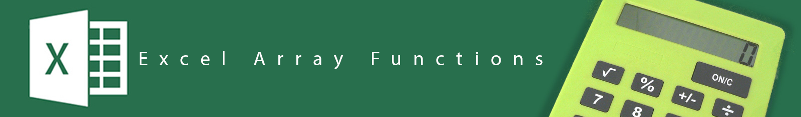 Excel-Array-Functions